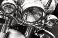 Motorcycle headlights Royalty Free Stock Photo