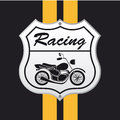 Motorcycle icon design over black background vector illustration Royalty Free Stock Photo