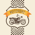 Motorcycle icon design over pink background vector illustration Royalty Free Stock Photos