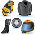 Motorcycle icons 1 Royalty Free Stock Photo