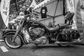 Motorcycle indian chieftain berlin june black and white classic days berlin Royalty Free Stock Image