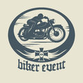 Motorcycle label vintage abstract illustration Royalty Free Stock Photos