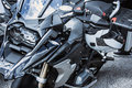 Motorcycle luxury items close-up: Motorcycle parts Royalty Free Stock Photo
