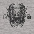 Motorcycle motor with wings emblem with triangle t shirt print