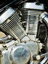 Motorcycle motors Stock Photography