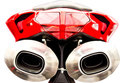 Motorcycle Mufflers Royalty Free Stock Images