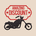 Motorcycle offer concept whit icon design vector illustration graphic Royalty Free Stock Photography