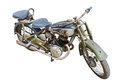 Motorcycle the old motor cycle isolated image Royalty Free Stock Photos