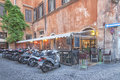 Motorcycle parking in Rome Royalty Free Stock Photo