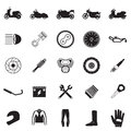 motorcycle part and item set