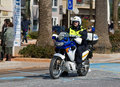 Motorcycle police Royalty Free Stock Photo