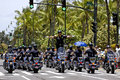 Motorcycle police event pan pacific festival location waikiki on the island of o ahu hawai i usa saturday vi subject indianapolis Royalty Free Stock Photos