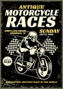Motorcycle race poster in grunge textured style Royalty Free Stock Photo