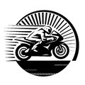 Motorcycle racer. Royalty Free Stock Photo