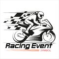 Motorcycle Racing Event Symbol