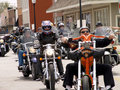 Motorcycle Ride For Charity Royalty Free Stock Images