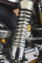 Motorcycle shock chrome back for Stock Photos