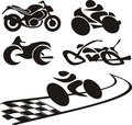 Motorcycle silhouette - logo Royalty Free Stock Image