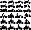 Motorcycle Silhouettes Royalty Free Stock Photo