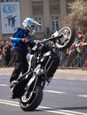 Motorcycle stunts, Lublin, Poland Stock Photography