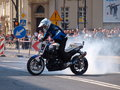 Motorcycle stunts, Lublin, Poland Stock Photos