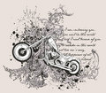 Motorcycle T-Shirt Design Royalty Free Stock Photo