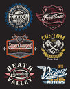 Motorcycle themed badges badge vectors Royalty Free Stock Image