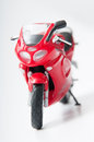 Motorcycle toy on white background Royalty Free Stock Images