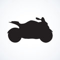 Motorcycle. Vector drawing