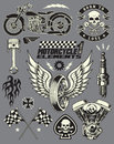 Motorcycle vector elements set of various images Stock Photo