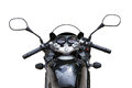 Motorcycle view from seat Royalty Free Stock Photo