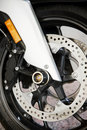 Motorcycle wheel Stock Image