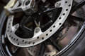 motorcycle wheel brake Royalty Free Stock Photo