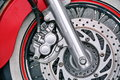 Motorcycle Wheel Detail Royalty Free Stock Photo