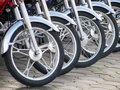 Motorcycle wheels Stock Photography