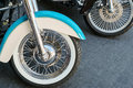 Motorcycle wheels Royalty Free Stock Photo