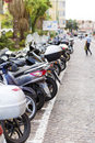 Motorcycles in the city of San Remo,Italy Royalty Free Stock Photo