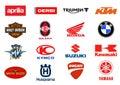 Motorcycles producers logos