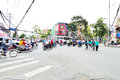Motorcycles riders in ho chi minh city saigon vietnam october road traffic saigon vietnam is the biggest southern of vietnam most Stock Image
