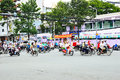 Motorcycles riders in ho chi minh city saigon vietnam october road traffic saigon vietnam is the biggest southern of vietnam most Stock Images