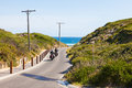 Motorcycles road venus bay victoria australia Royalty Free Stock Photography
