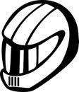 Motorcyclist or racing car driver helmet. Vector Royalty Free Stock Photo