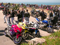 Motorcyclists Meeting, Portugal Royalty Free Stock Photos