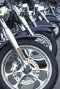 Motorcyles In A Row