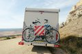 Motorhome bikes in soria spain Stock Images