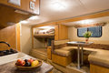 Motorhome interior of a wide angle shot Royalty Free Stock Image