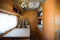 Motorhome interior of a wide angle shot Stock Photos