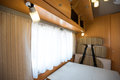 Motorhome interior of a wide angle shot Royalty Free Stock Photography