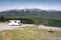 Motorhome in new zealand nelson lakes national park recreational vehicle Royalty Free Stock Images