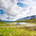 Motorhome in Norway Royalty Free Stock Photo